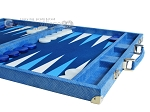 picture of Hector Saxe Faux Snake Backgammon Set - Light Blue (6 of 12)