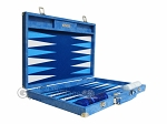 Hector Saxe Faux Snake Backgammon Set - Light Blue