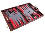 picture of Hector Saxe Faux Snake Backgammon Set - Maroon (2 of 12)