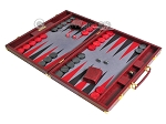 picture of Hector Saxe Faux Snake Backgammon Set - Maroon (3 of 12)