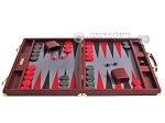 picture of Hector Saxe Faux Snake Backgammon Set - Maroon (4 of 12)