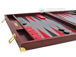 picture of Hector Saxe Faux Snake Backgammon Set - Maroon (5 of 12)
