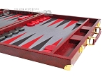 picture of Hector Saxe Faux Snake Backgammon Set - Maroon (6 of 12)