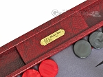 picture of Hector Saxe Faux Snake Backgammon Set - Maroon (7 of 12)