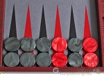picture of Hector Saxe Faux Snake Backgammon Set - Maroon (8 of 12)