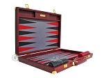 picture of Hector Saxe Faux Snake Backgammon Set - Maroon (10 of 12)