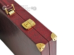 picture of Hector Saxe Faux Snake Backgammon Set - Maroon (12 of 12)