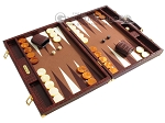 picture of Hector Saxe Faux Croco Backgammon Set - Brown (2 of 12)