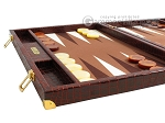 picture of Hector Saxe Faux Croco Backgammon Set - Brown (5 of 12)