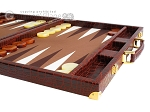 picture of Hector Saxe Faux Croco Backgammon Set - Brown (6 of 12)