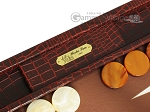picture of Hector Saxe Faux Croco Backgammon Set - Brown (7 of 12)