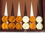 picture of Hector Saxe Faux Croco Backgammon Set - Brown (8 of 12)