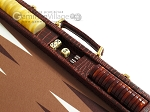 picture of Hector Saxe Faux Croco Backgammon Set - Brown (9 of 12)