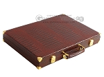 picture of Hector Saxe Faux Croco Backgammon Set - Brown (11 of 12)