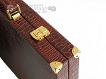picture of Hector Saxe Faux Croco Backgammon Set - Brown (12 of 12)