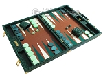 picture of Hector Saxe Faux Croco Backgammon Set - Emerald Green (2 of 12)