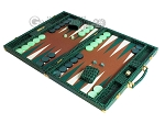 picture of Hector Saxe Faux Croco Backgammon Set - Emerald Green (3 of 12)