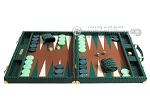 picture of Hector Saxe Faux Croco Backgammon Set - Emerald Green (4 of 12)