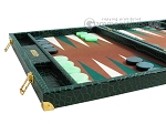 picture of Hector Saxe Faux Croco Backgammon Set - Emerald Green (5 of 12)