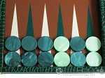 picture of Hector Saxe Faux Croco Backgammon Set - Emerald Green (8 of 12)