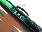 picture of Hector Saxe Faux Croco Backgammon Set - Emerald Green (9 of 12)