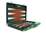 picture of Hector Saxe Faux Croco Backgammon Set - Emerald Green (10 of 12)