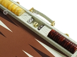 picture of Hector Saxe Faux Croco Backgammon Set - Ivory (9 of 12)
