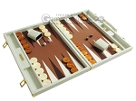 picture of Hector Saxe Faux Croco Backgammon Set - Ivory (2 of 12)