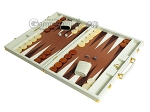 picture of Hector Saxe Faux Croco Backgammon Set - Ivory (3 of 12)