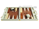picture of Hector Saxe Faux Croco Backgammon Set - Ivory (4 of 12)