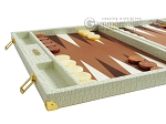 picture of Hector Saxe Faux Croco Backgammon Set - Ivory (5 of 12)