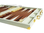 picture of Hector Saxe Faux Croco Backgammon Set - Ivory (6 of 12)