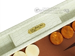 picture of Hector Saxe Faux Croco Backgammon Set - Ivory (7 of 12)