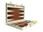 picture of Hector Saxe Faux Croco Backgammon Set - Ivory (10 of 12)