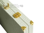 Hector Saxe Faux Croco Backgammon Set - Ivory