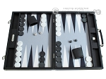 Hector Saxe Leatherette Backgammon Set - Black - Item: 2522