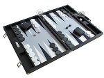 picture of Hector Saxe Leatherette Backgammon Set - Black (2 of 12)