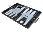 picture of Hector Saxe Leatherette Backgammon Set - Black (3 of 12)