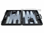 picture of Hector Saxe Leatherette Backgammon Set - Black (4 of 12)