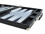 picture of Hector Saxe Leatherette Backgammon Set - Black (6 of 12)
