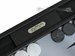 picture of Hector Saxe Leatherette Backgammon Set - Black (7 of 12)