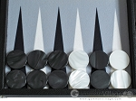 picture of Hector Saxe Leatherette Backgammon Set - Black (8 of 12)