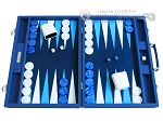 Hector Saxe Leatherette Backgammon Set - Blue - Item: 2520