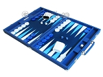 picture of Hector Saxe Leatherette Backgammon Set - Blue (3 of 12)