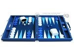 picture of Hector Saxe Leatherette Backgammon Set - Blue (4 of 12)