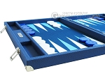Hector Saxe Leatherette Backgammon Set - Blue
