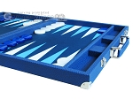 picture of Hector Saxe Leatherette Backgammon Set - Blue (6 of 12)