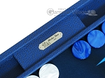 picture of Hector Saxe Leatherette Backgammon Set - Blue (7 of 12)