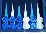 picture of Hector Saxe Leatherette Backgammon Set - Blue (8 of 12)