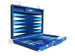 picture of Hector Saxe Leatherette Backgammon Set - Blue (10 of 12)